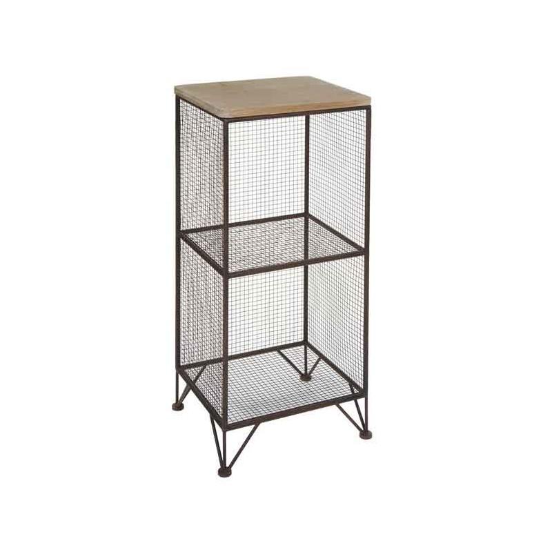 Estanter a estilo industrial metal 2 estantes connature for Estanteria estilo industrial