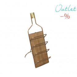 BOTELLERO RUSTICO VINTAGE DE PARED