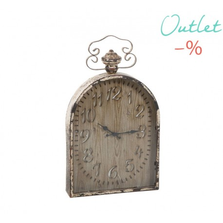 RELOJ DE PARED VINTAGE MARRON