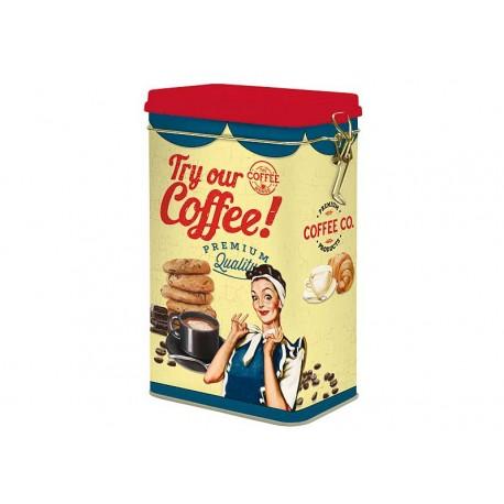 CAJA CAFE METAL AMARILLO