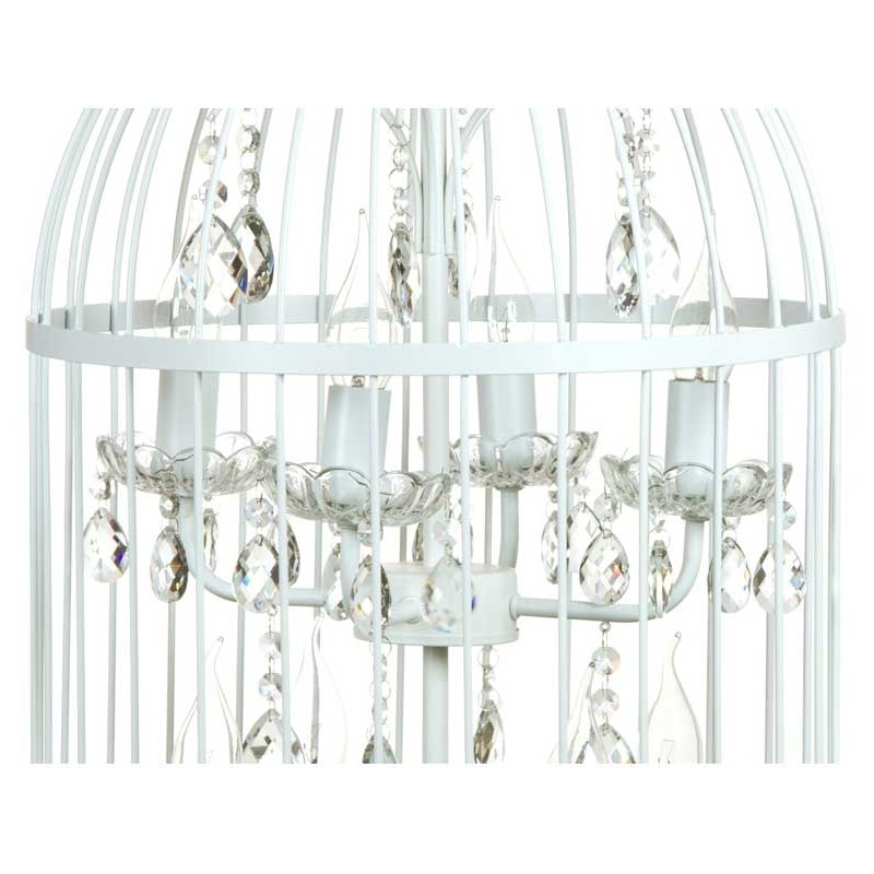 L mprashabby chic jaula blanca connature decoraci n - Lamparas estilo shabby chic ...