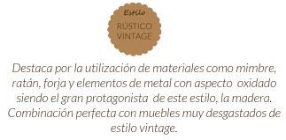 Estilo rustico vintage